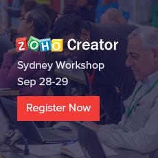 Zoho Creator Sydney Workshop